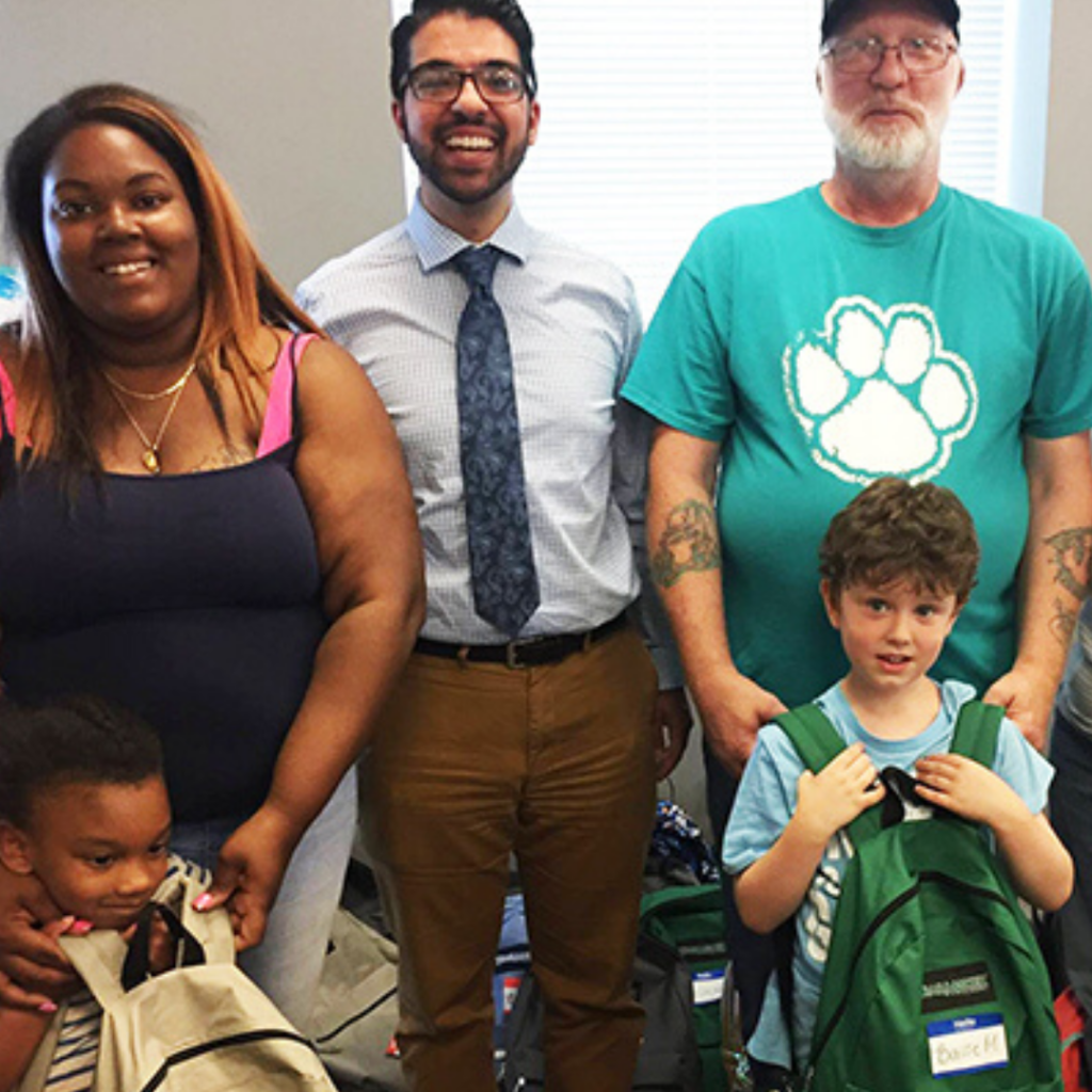 backpack giveaway - dentist in Easton PA